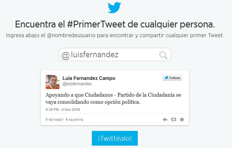 mi primer tuit
